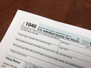 IRS Form 1040 2017