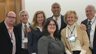 Senator Booker with Council of NJ Grantmakers and Center reps 2018