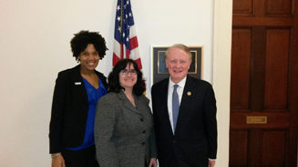 Center staff with Congressman Leonard Lance