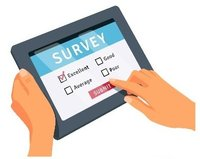 Image of a survey question on a tablet